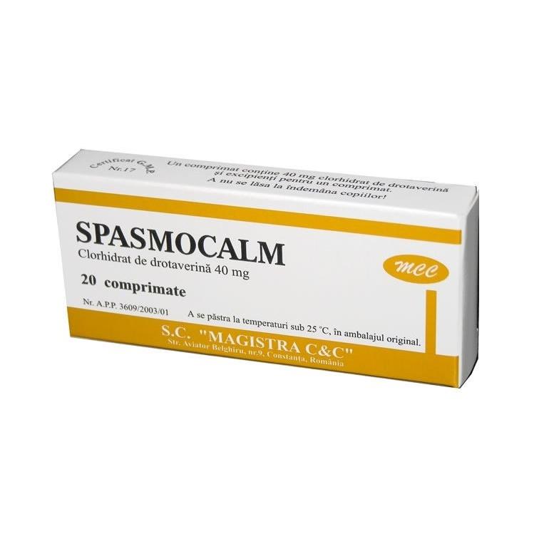 Spasmocalm MCC 40mg, 20 comprimate, Magistra