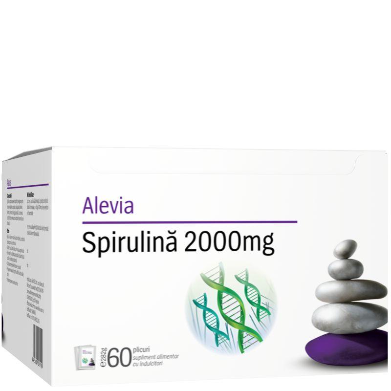Spirulină 2000 mg, 60 plicuri, Alevia