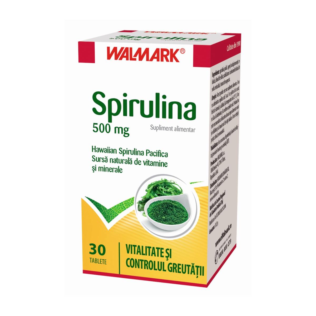 Spirulina 500mg, 30 tablete, Walmark