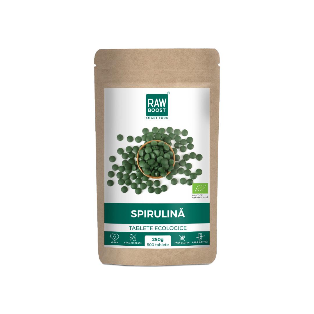 Spirulina ecologica, 250g, Rawboost Smart Food
