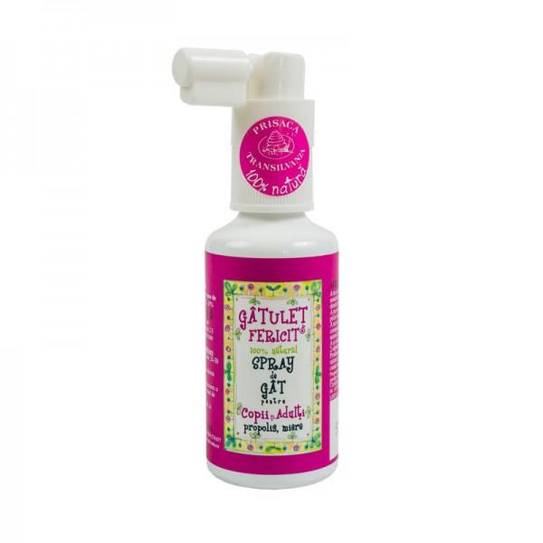 Spray de gat pentru copii si adulti Gatulet Fericit, 20 ml, Prisaca Transilvania
