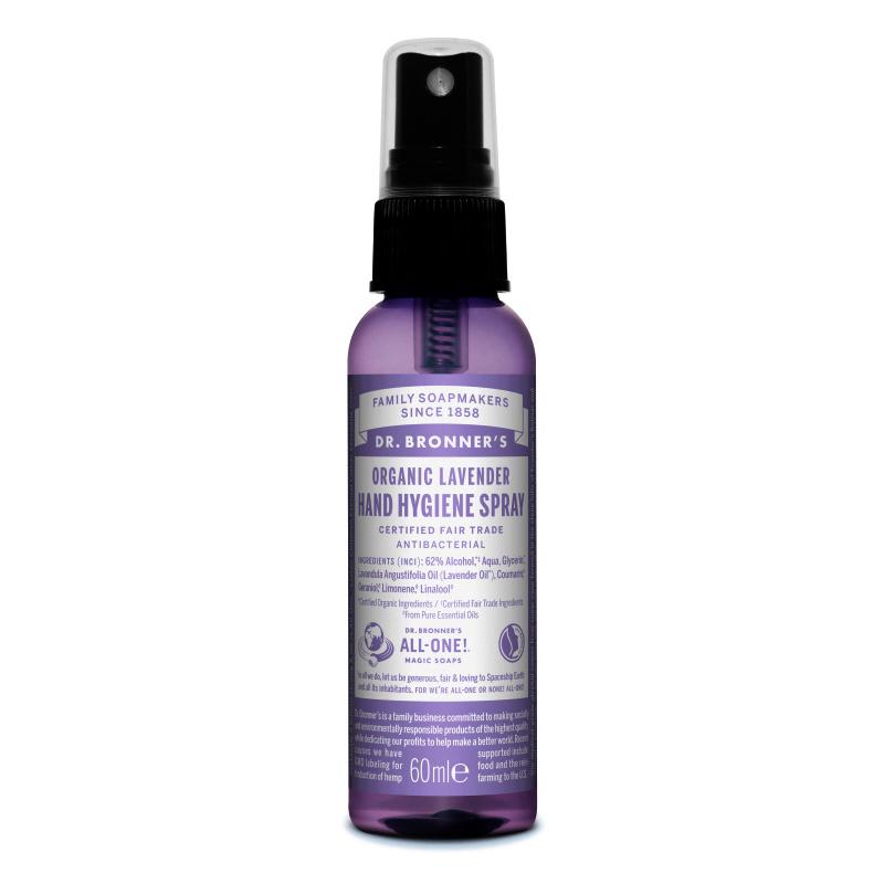 Spray de mâini igienizant cu lavanda, 60 ml, Dr. Bronner's