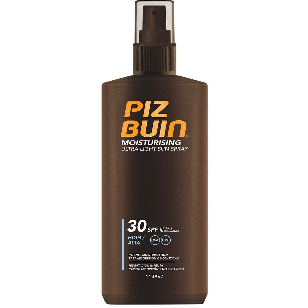 Spray de protectie solara cu textura usoara SPF 30, 200 ml, Piz Buin