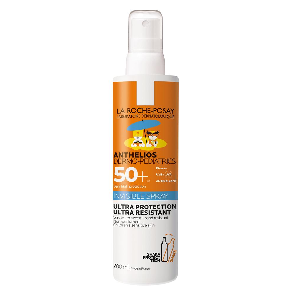 Spray invizibil pentru copii cu SPF 50+ Anthelios Dermo-Pediatrics, 200 ml, La Roche-Posay