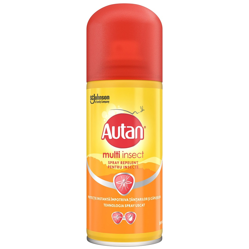 Spray repelent anti-tantari Multi Insect, 100 ml, Autan
