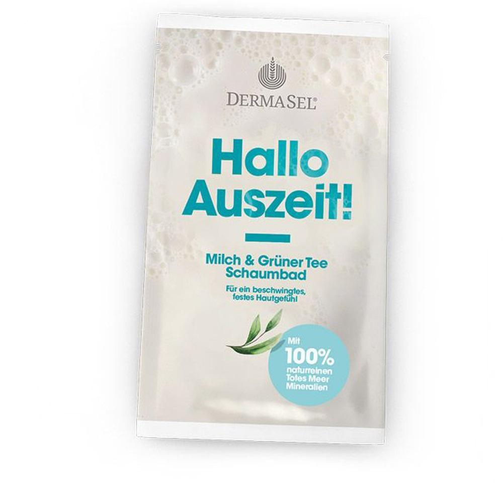 Spuma de baie cu lapte si ceai verde, 40 ml, DermaSel