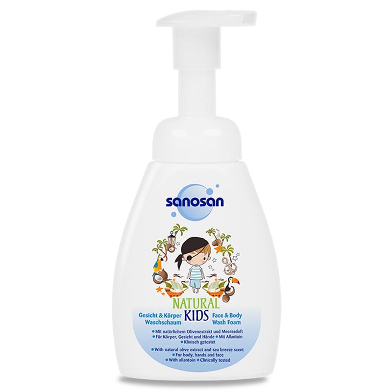 Spumă de curățare pentru băieți Natural Kids, 250 ml, Sanosan