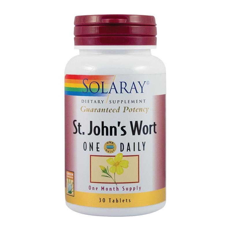 St John's Wort Sunatoare extract 900mg, 30 tablete, Solaray