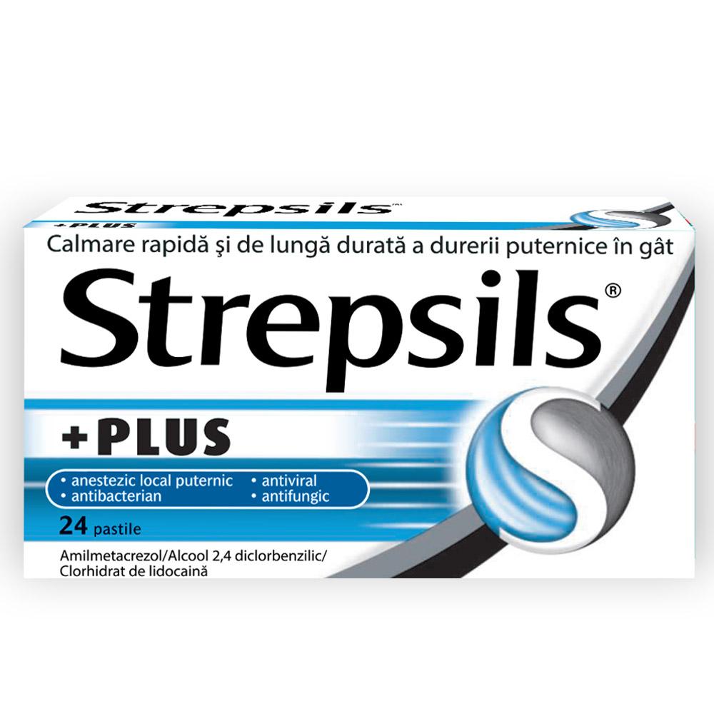 Strepsils Plus, 24 comprimate, Reckitt Benckiser Healthcare