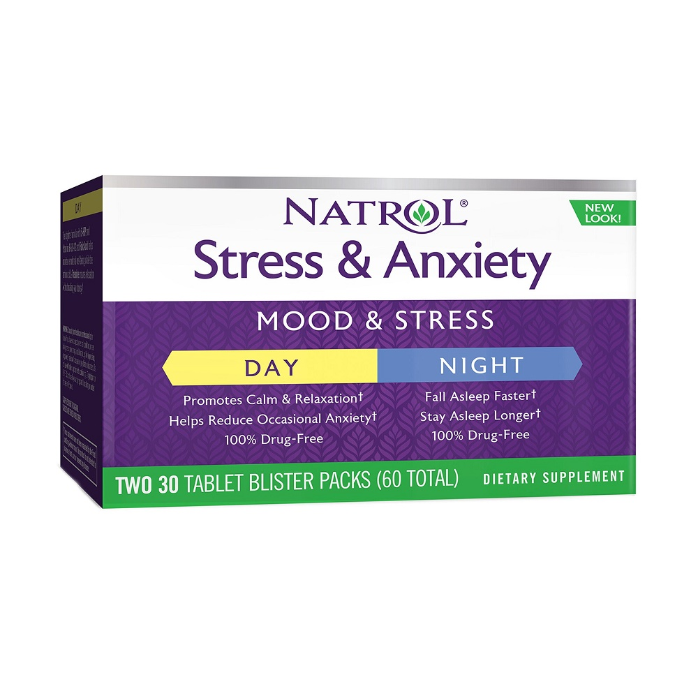 Stress & Anxiety Natrol (220207), 30 + 30 tablete, GNC