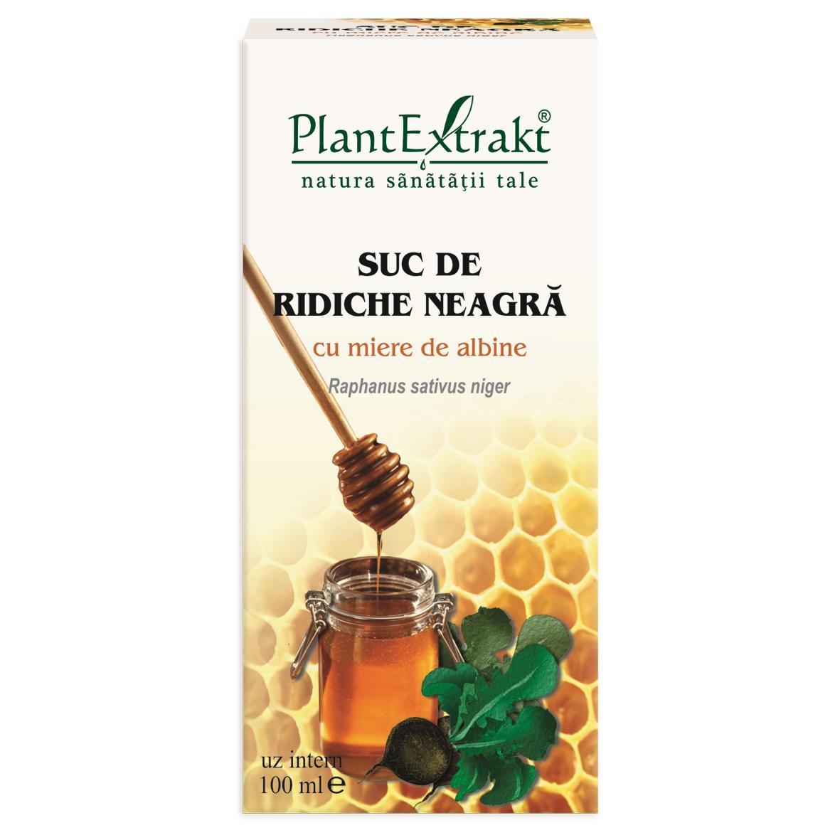 Suc de Ridiche Neagră cu miere de albine, 100 ml, Plant Extrakt