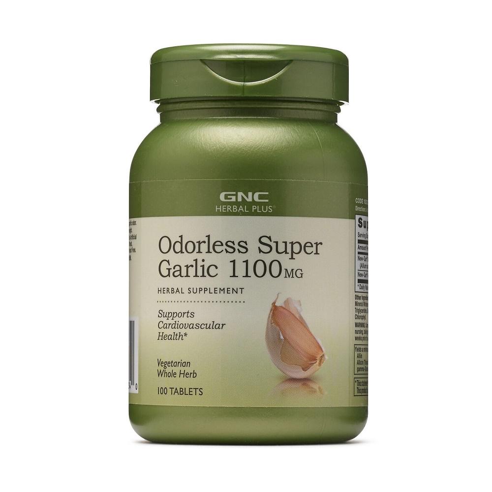 Super Usturoi Inodor 1100 mg (182022), 100 tablete, GNC