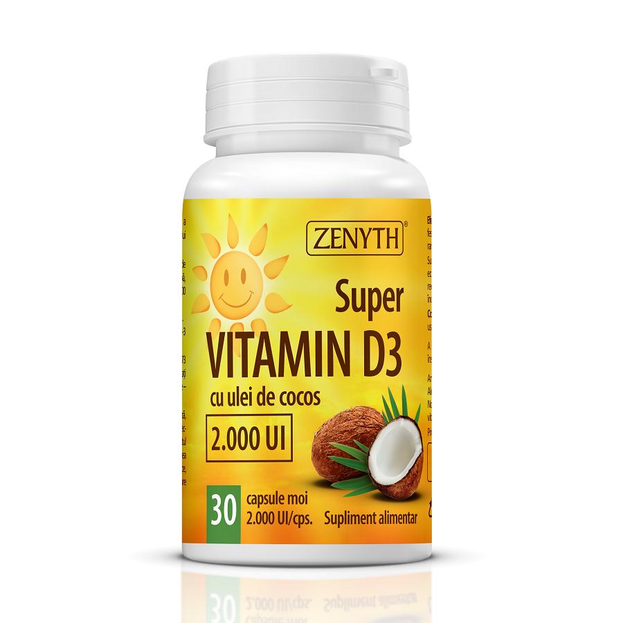 Super Vitamin D3, 30 capsule, Zenyth