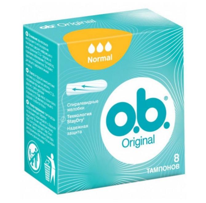 Tampoane Original Normal, 8 bucăți, OB