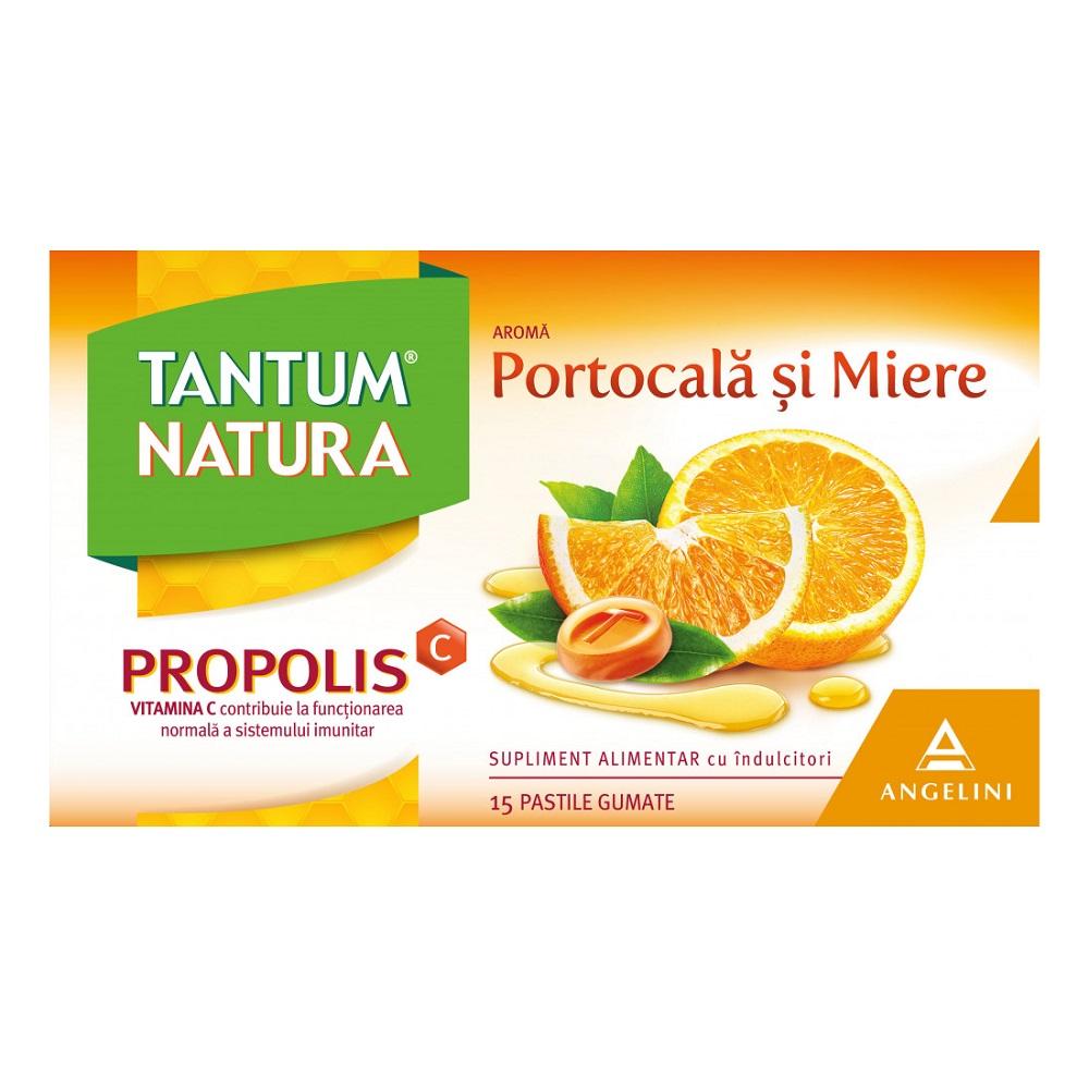 Tantum Natura cu portocală si miere, 15 pastile gumate, Angelini
