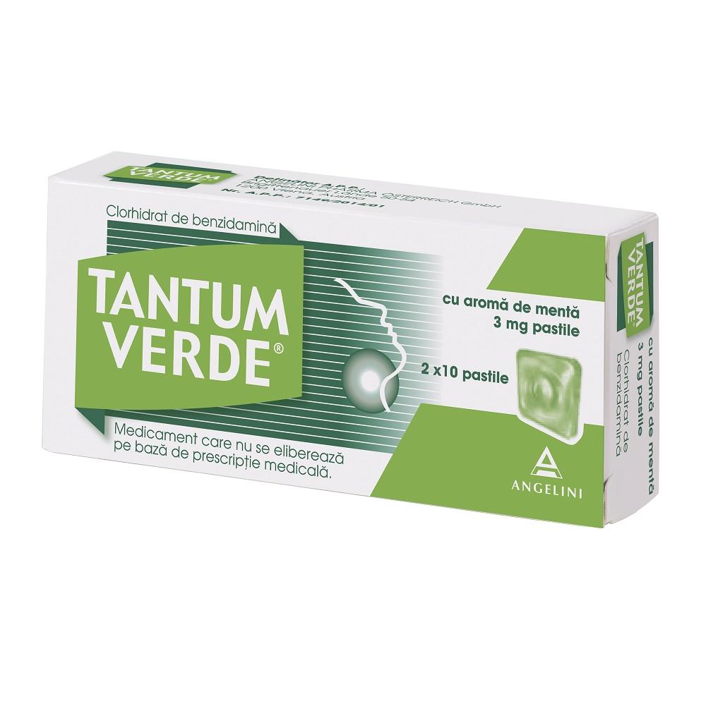 Tantum Verde cu aromă de mentă, 20 dropsuri, Csc Pharmaceuticals