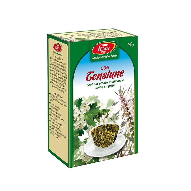 Ceai pentru tensiune, C36, 50 g, Fares
