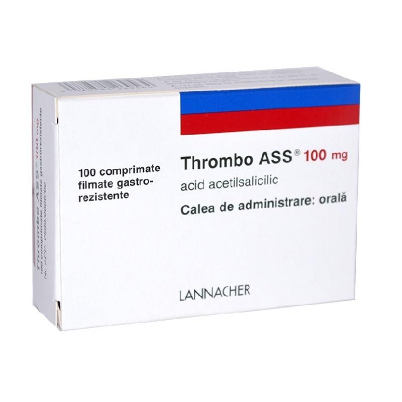 Thrombo Ass 100mg, 100 comprimate, Lannacher