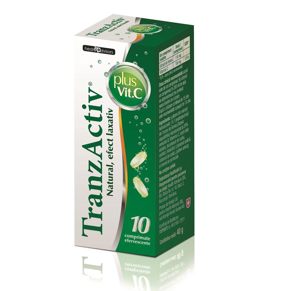 Tranzactiv plus Vitamina C, 10 comprimate effervescente, Health Advisors