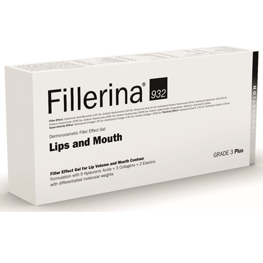 Tratament pentru buze si conturul buzelor Grad 3 Plus Fillerina 932, 7 ml, Labo