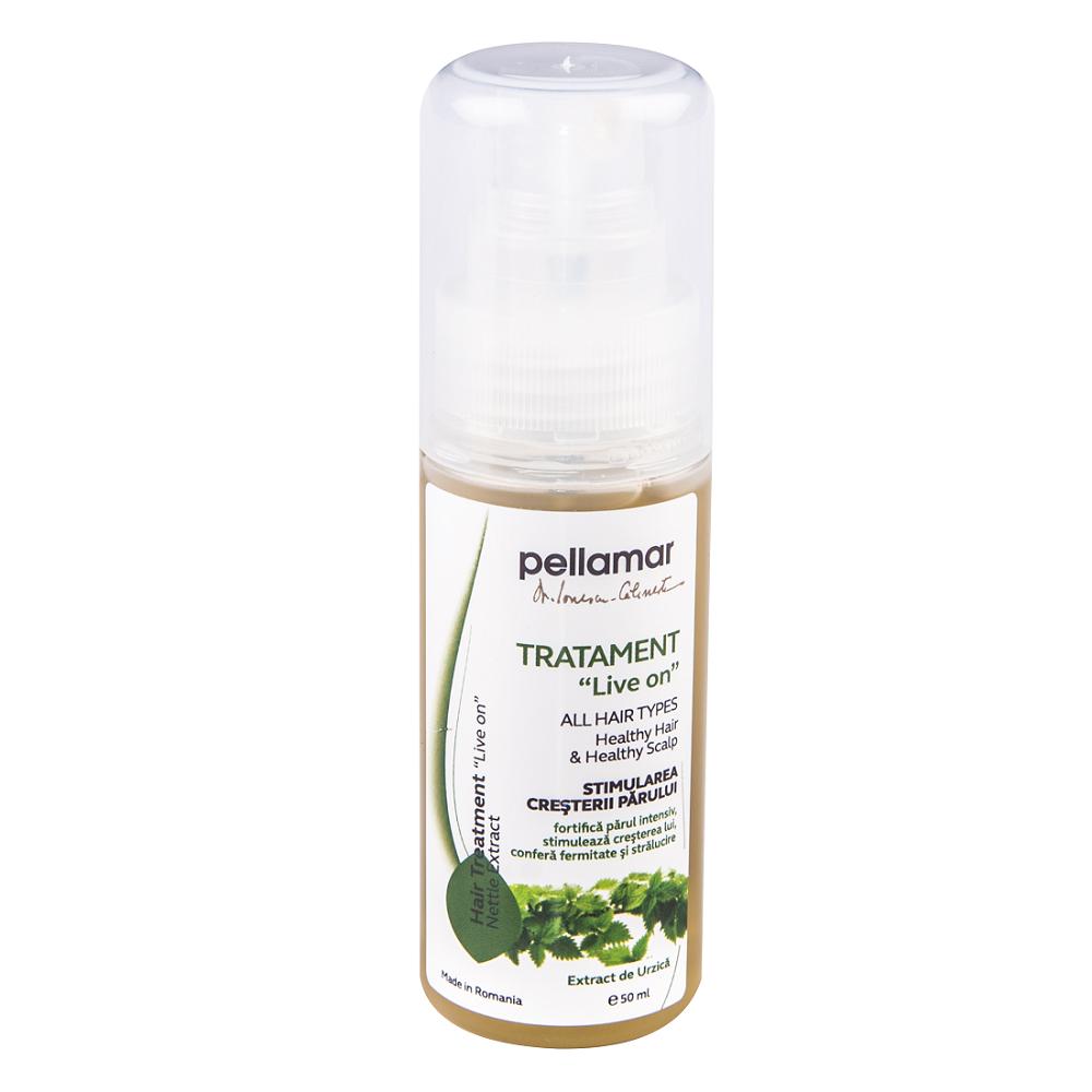 Tratament pentru stimularea cresterii parului Live On Beauty Hair, 50 ml, Pellamar