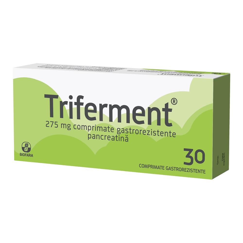 Triferment, 30 comprimate gastrorezistente, Biofarm