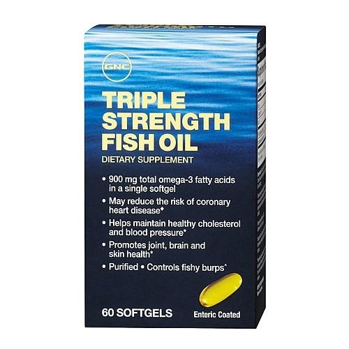 Triple Strenght Fish Oil 900 mg (893122), 60 capsule, GNC