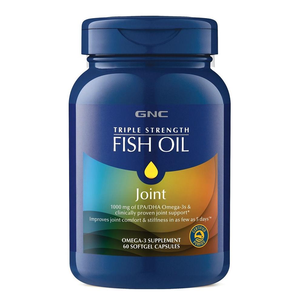 Triple Strength Ulei de Peste Plus Formula pentru Sanatatea Articulatiilor (736321), 60 capsule, GNC