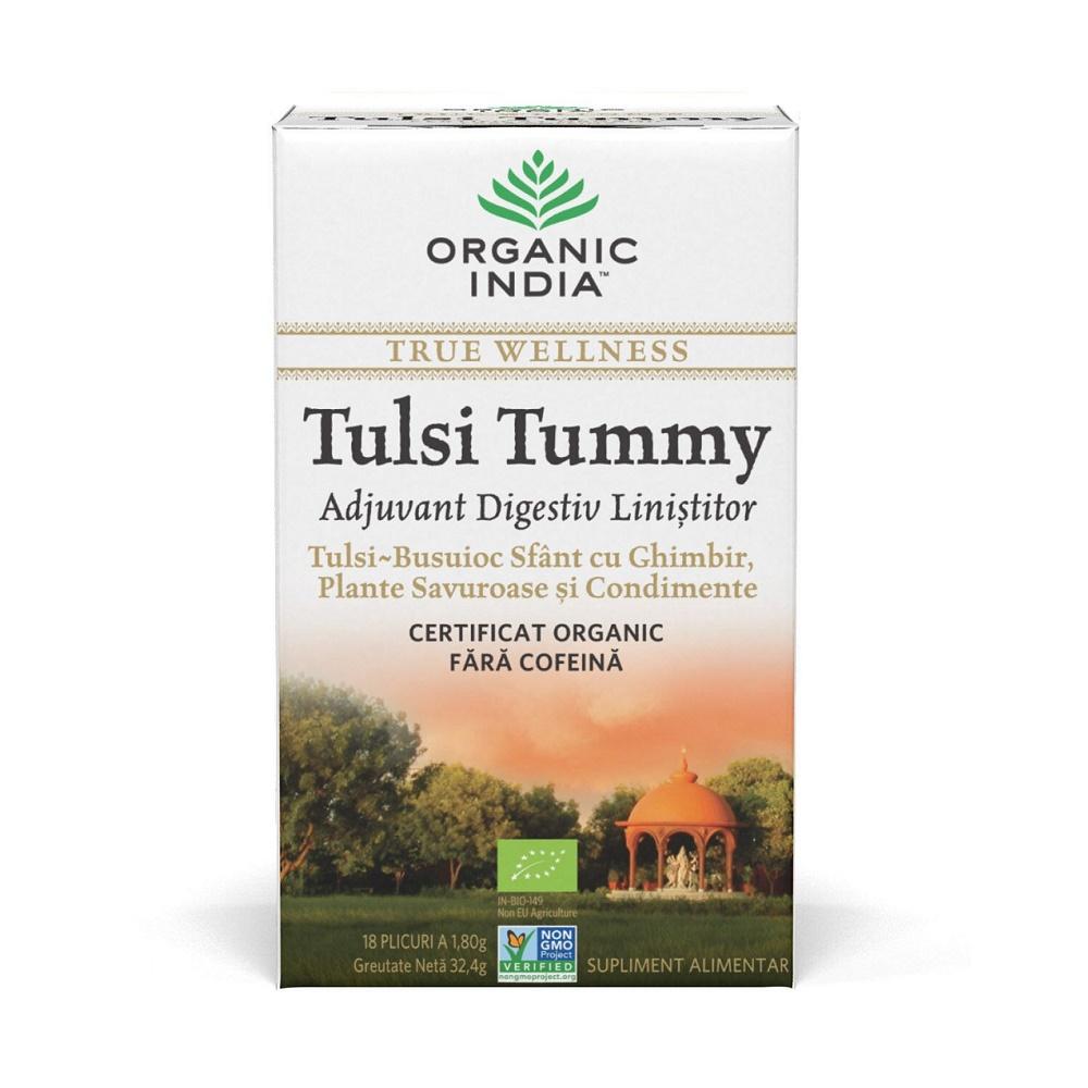 Tulsi Tummy Ceai, 18 plicuri, Organic India