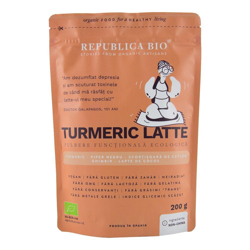 Turmeric Latte, pulbere functionala ecologica, 200 g, Republica Bio