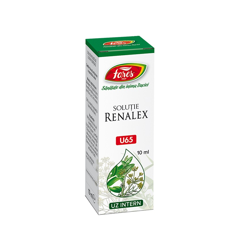 Renalex solutie, U65, 10 ml, Fares