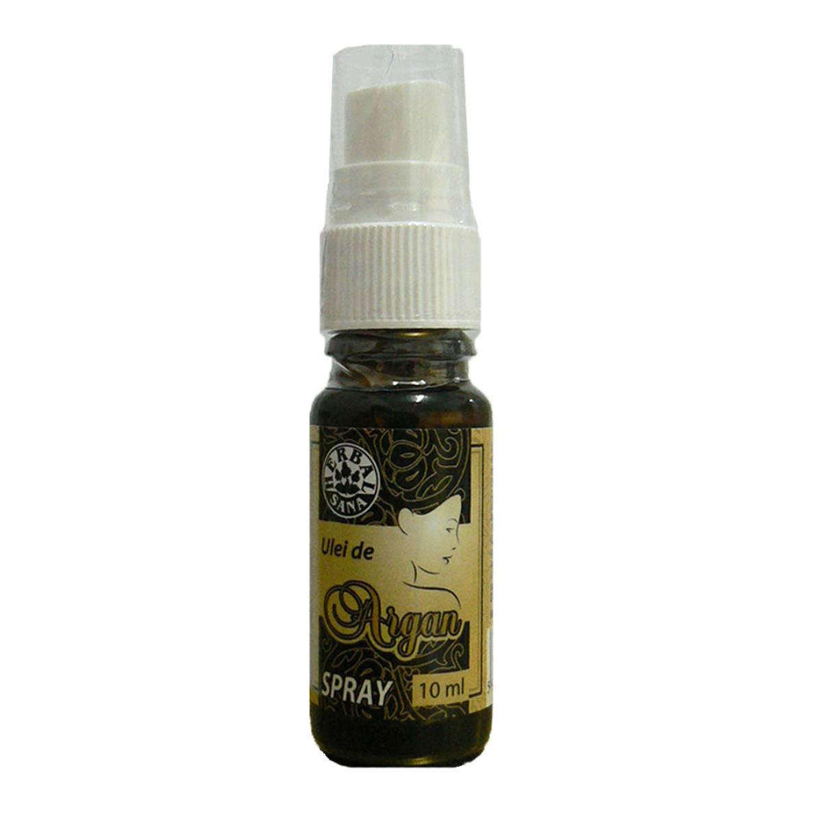 Ulei de Argan presat la rece spray, 10 ml, Herbavit
