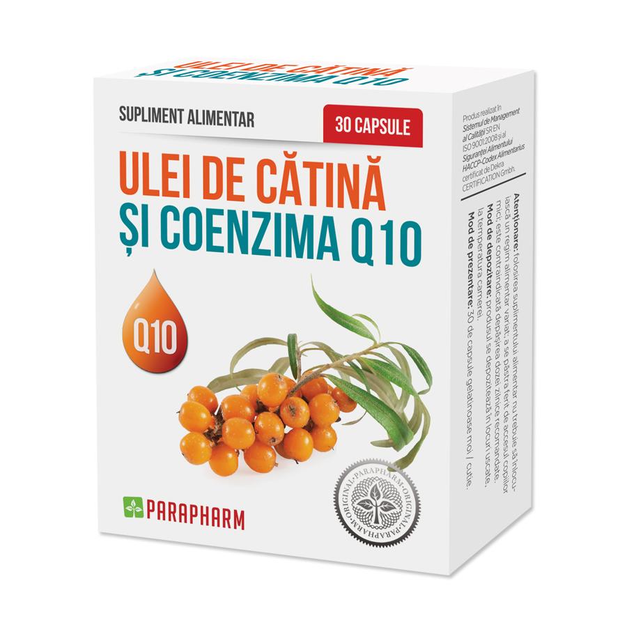Ulei de Catină și Coenzima Q10, 30 capsule, Parapharm