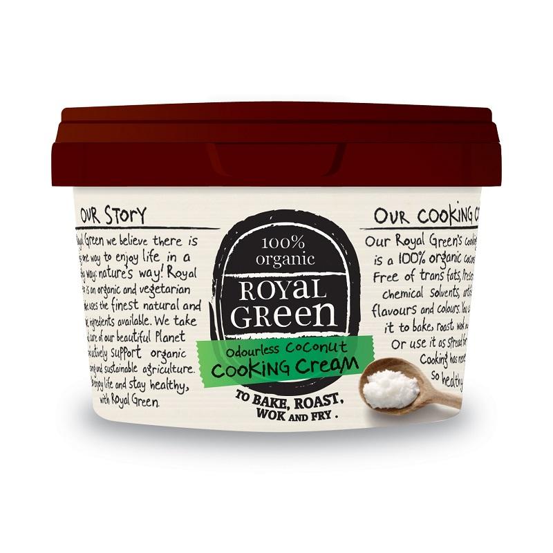 Ulei de cocos pentru gatit 100% organic Royal Green, 250 ml, Frenchtop