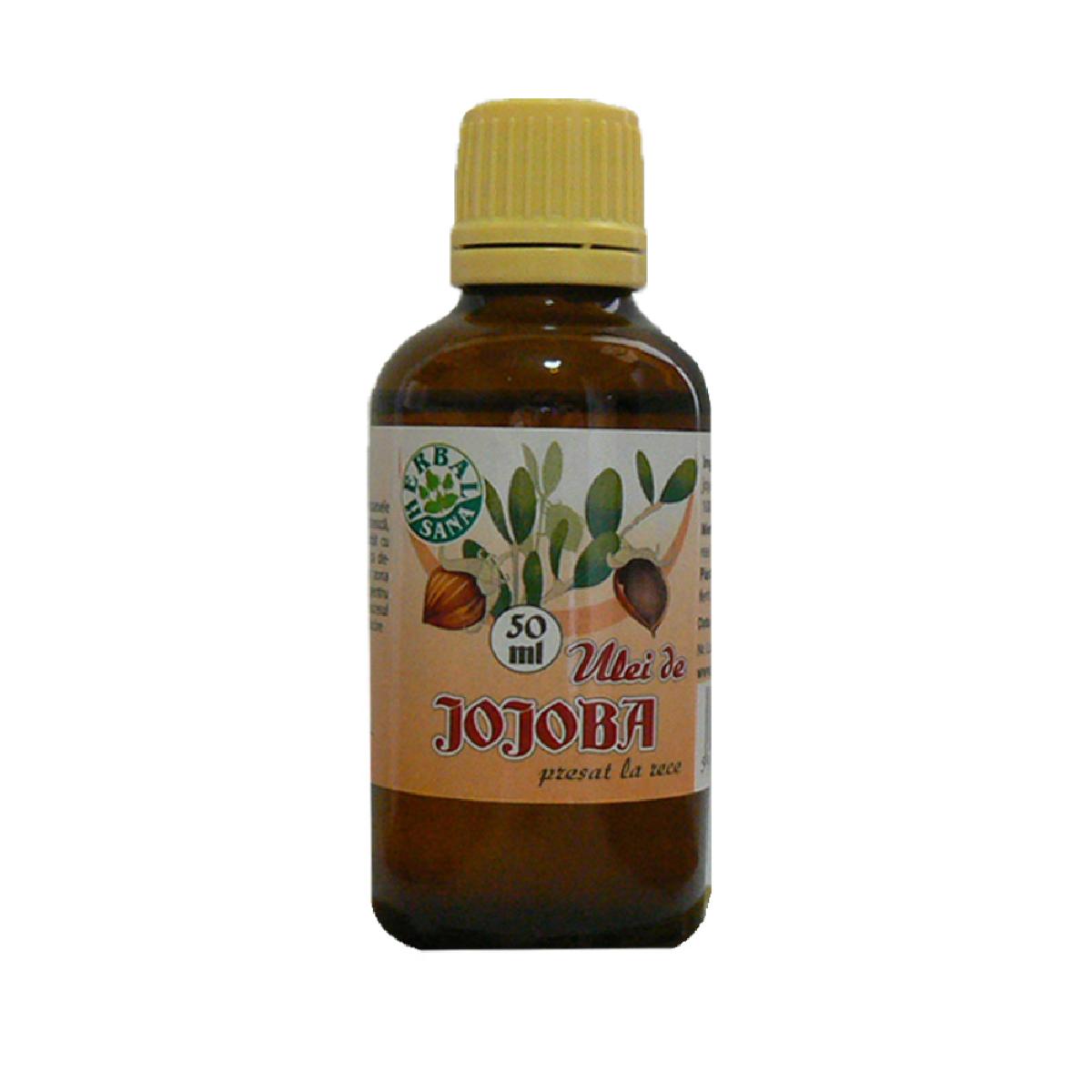 Ulei de Jojoba presat la rece, 50 ml, Herbavit
