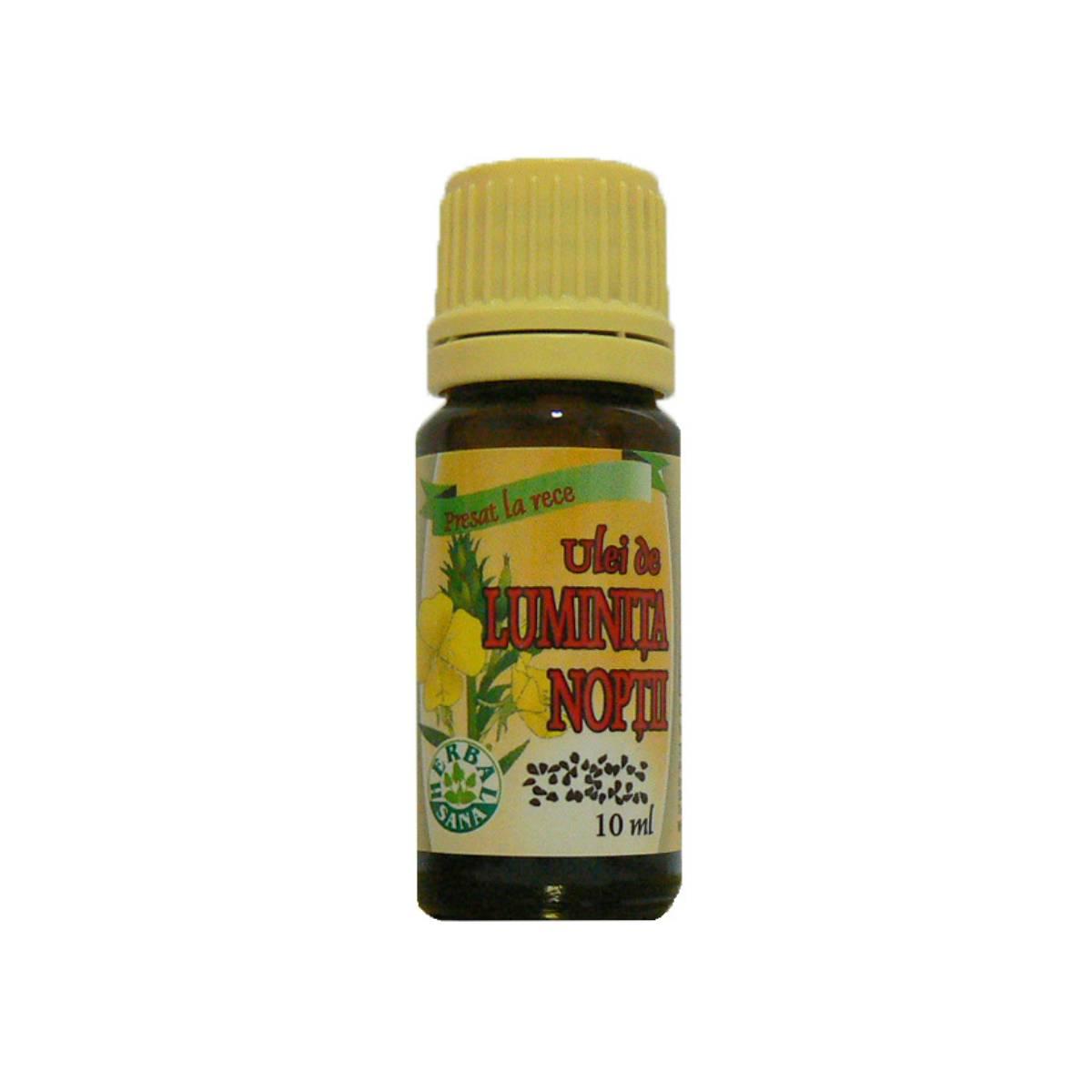 Ulei de Luminita Noptii presat la rece, 10 ml, Herbavit