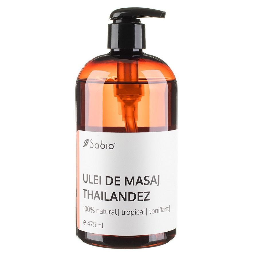 Ulei de masaj Thailandez 100% natural, 475 ml, Sabio