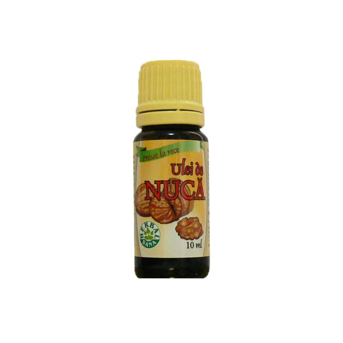 Ulei de nucă presat la rece, 10 ml, Herbavit