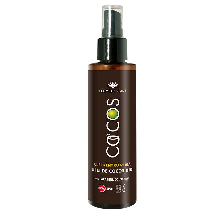 Ulei de plaja cu ulei de cocos Bio SPF 6, 150 ml, Cosmetic Plant