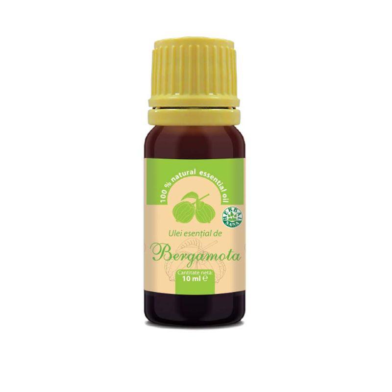 Ulei esential de bergamota 100% pur, 10 ml, Herbavit