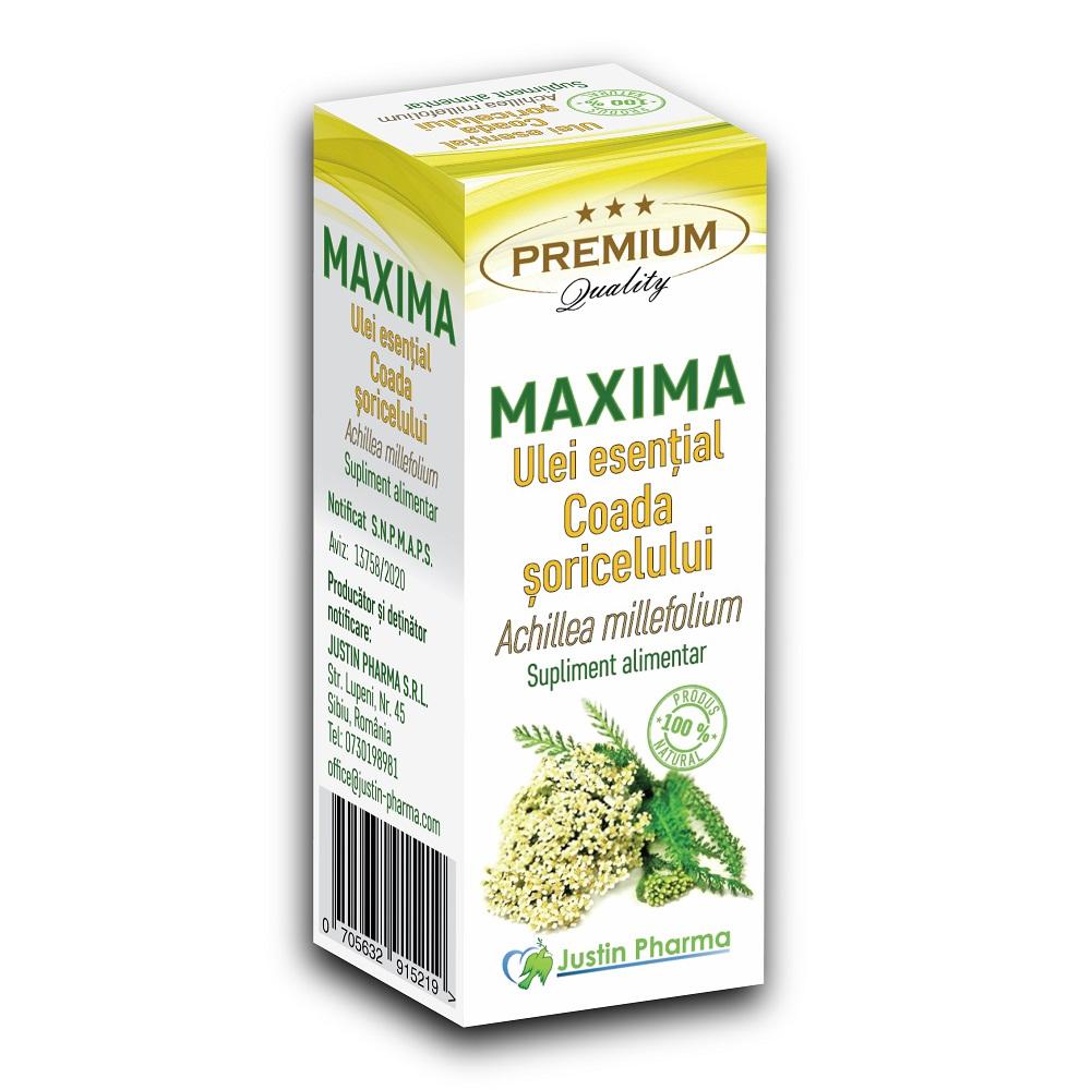 Ulei esential de Coada soricelului, 10 ml, Justin Pharma