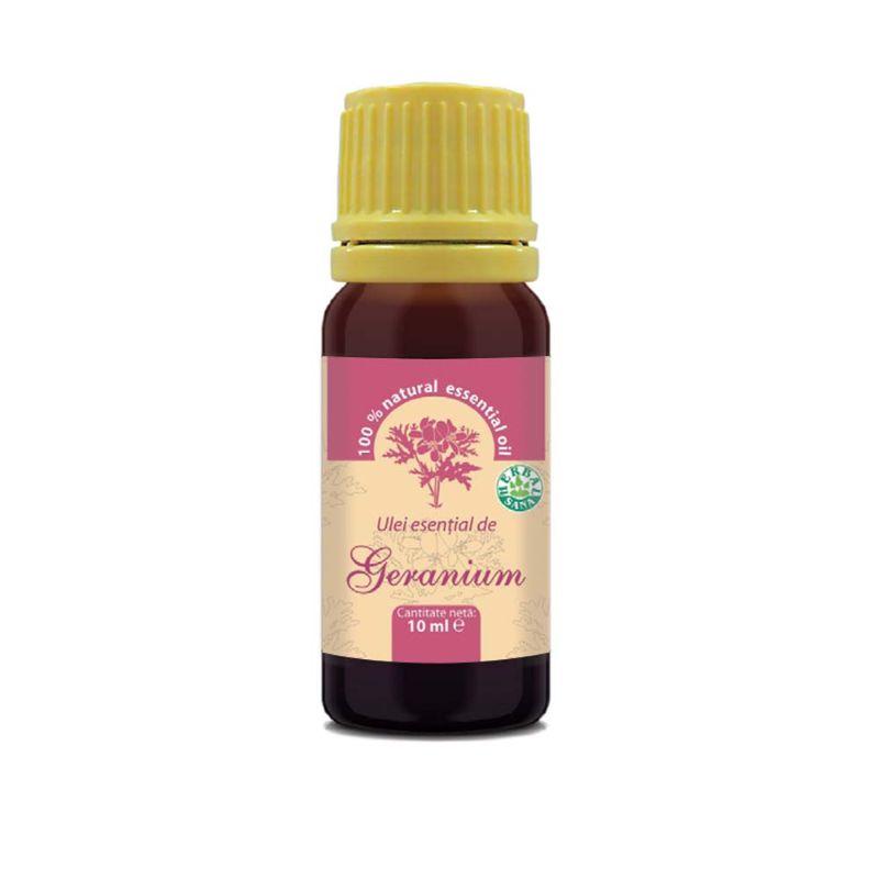 Ulei esenţial de geranium 100% pur, 10 ml, Herbavit