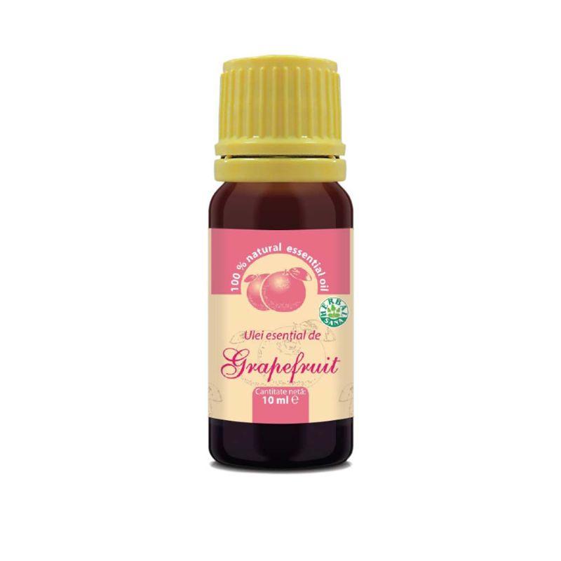 Ulei esenţial de grapefruit 100% pur, 10 ml, Herbavit
