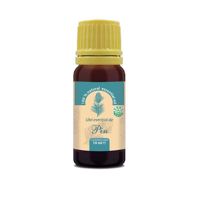 Ulei esenţial de pin 100% pur, 10 ml, Herbavit