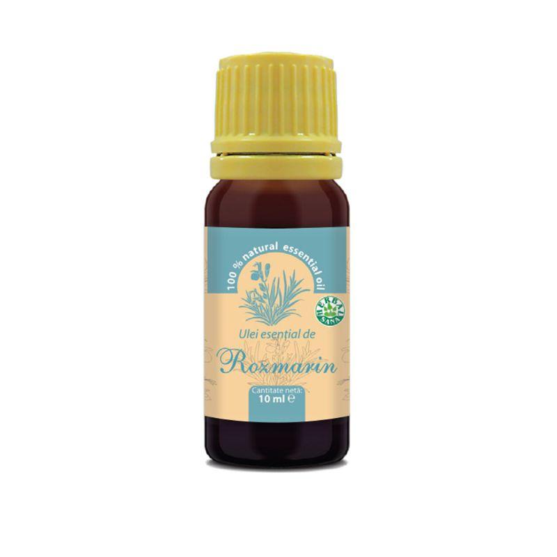 Ulei esenţial de rozmarin 100% pur, 10 ml, Herbavit
