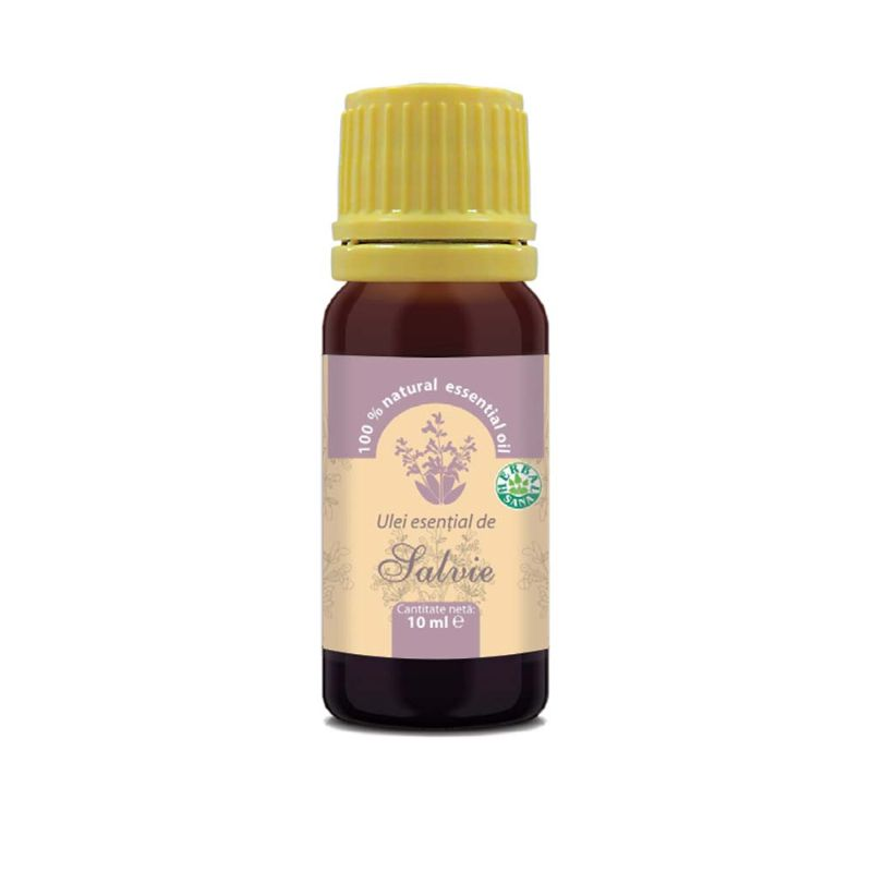 Ulei esenţial de salvie 100% pur, 10 ml, Herbavit