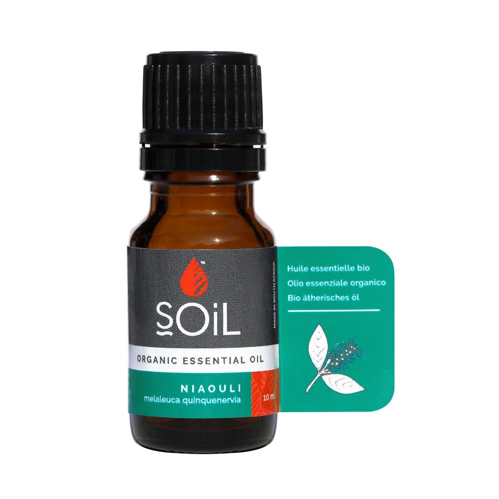 Ulei esențial organic de Niaouli Pur 100% Organic, 10 ml, SOiL