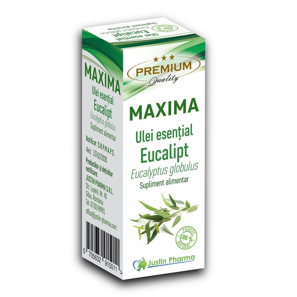 Ulei esential de Eucalipt Maxima, 10 ml, Justin Pharma