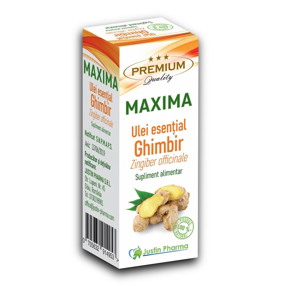 Ulei estential de Ghimbir Maxima, 10 ml, Justin Pharma