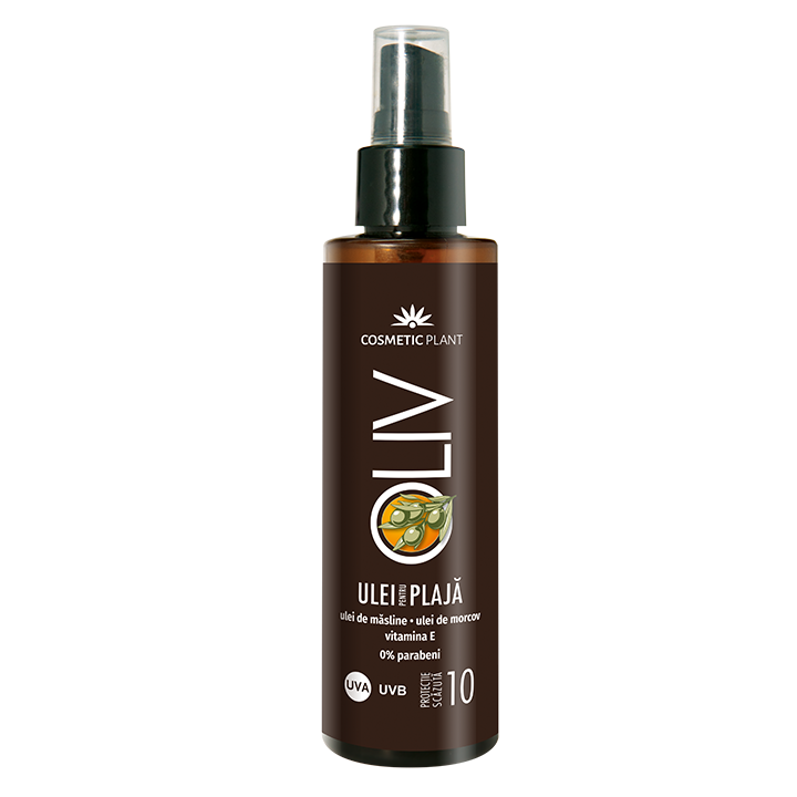 Ulei pentru plaja SPF 10 Oliv, 150 ml, Cosmetic Plant